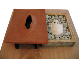 MATRIMONIO// cerámica, piedra pómez y madera/ 2014