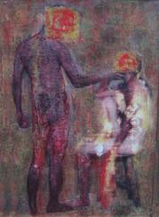 ADÁN Y EVA//fotografía intervenida. 2003